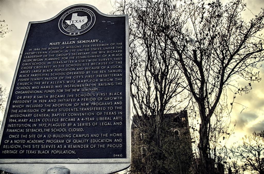 Mary Allen Seminary Historical Marker