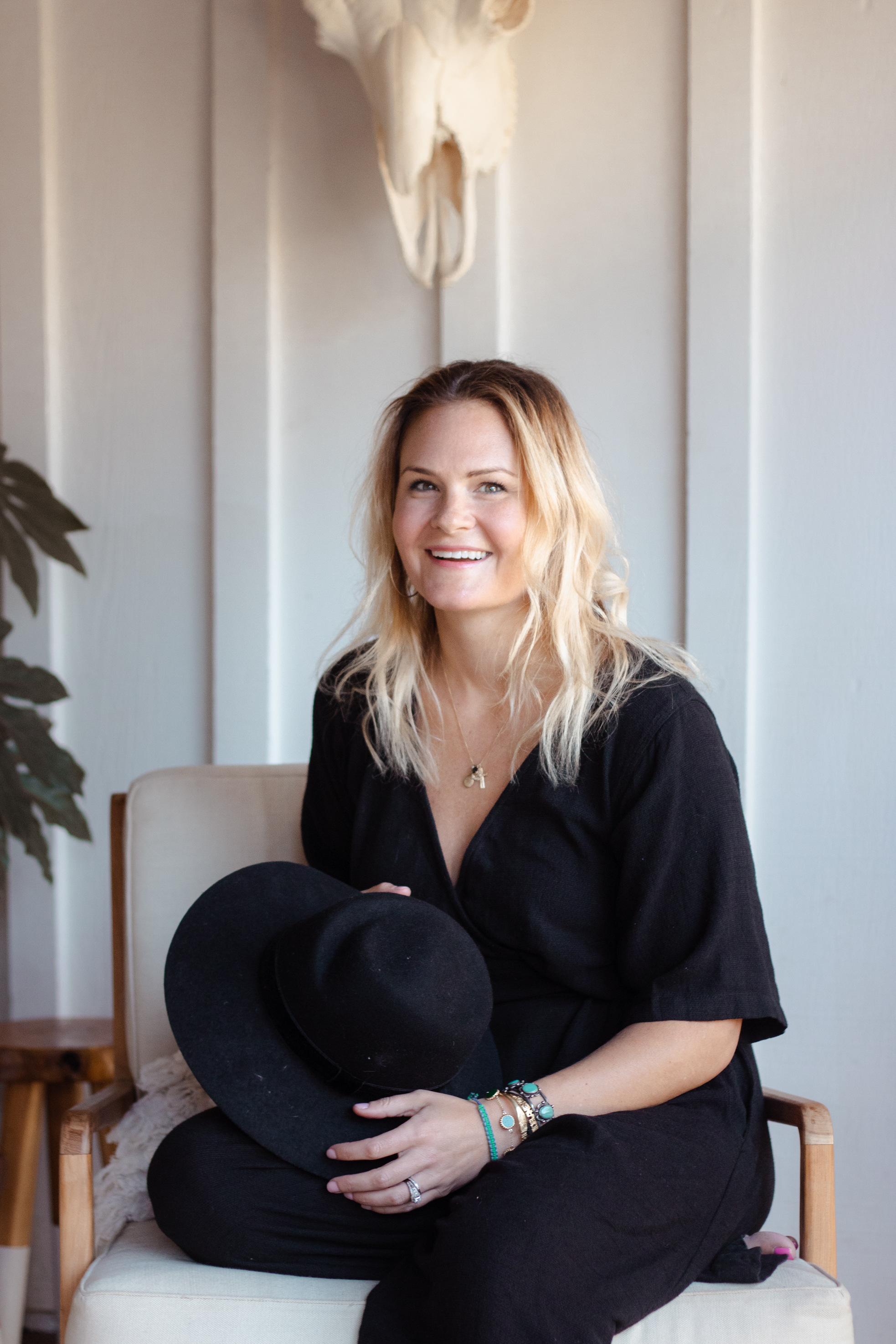 Meghan Phillips, founder of Honey + co-founder of Simple Summers - These images were shot in Meghan's 1952 Spanish adobe home as updated headshots and to be used for Creativity + Sacramento.