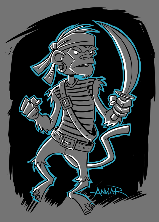 Pirate Monkey Character Design