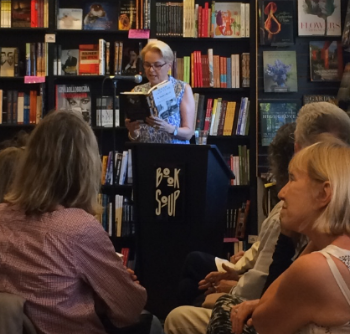 Tracy reading at Book Soup.