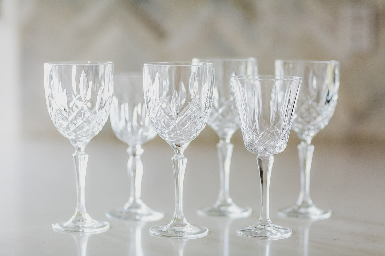 Cut Crystal Water Glass