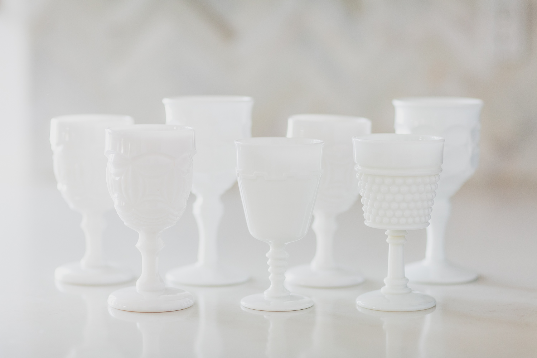 Milk Glass Goblet