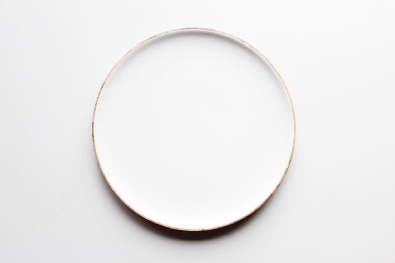 WHITE WOOD SALAD PLATE