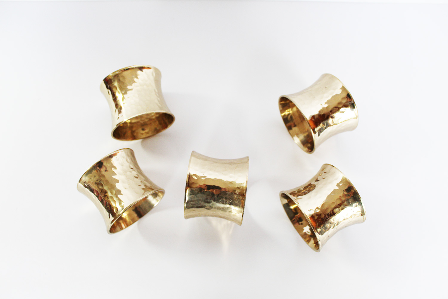 GOLD CINCHED NAPKIN RINGS