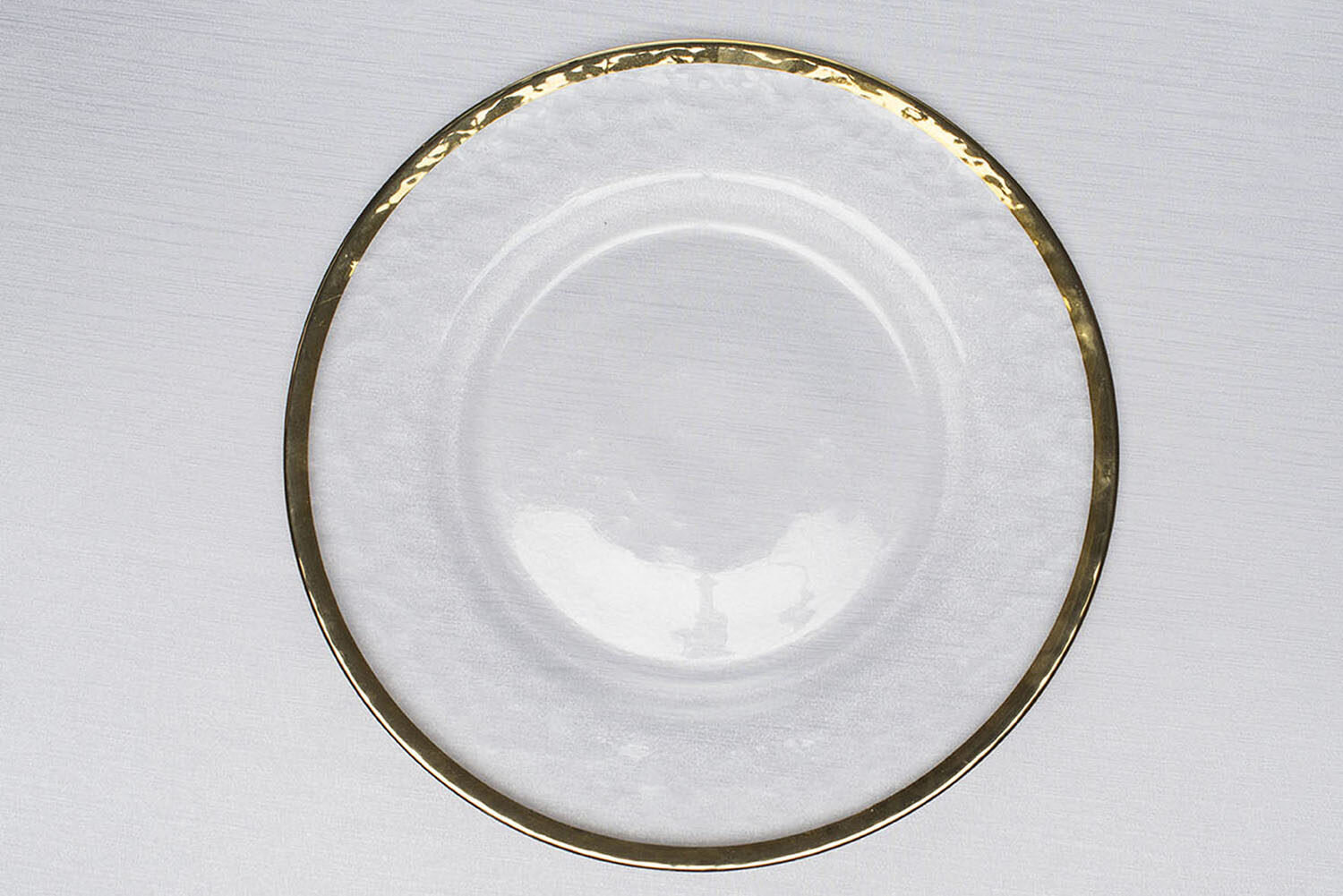 Gold Rim Glass Charger