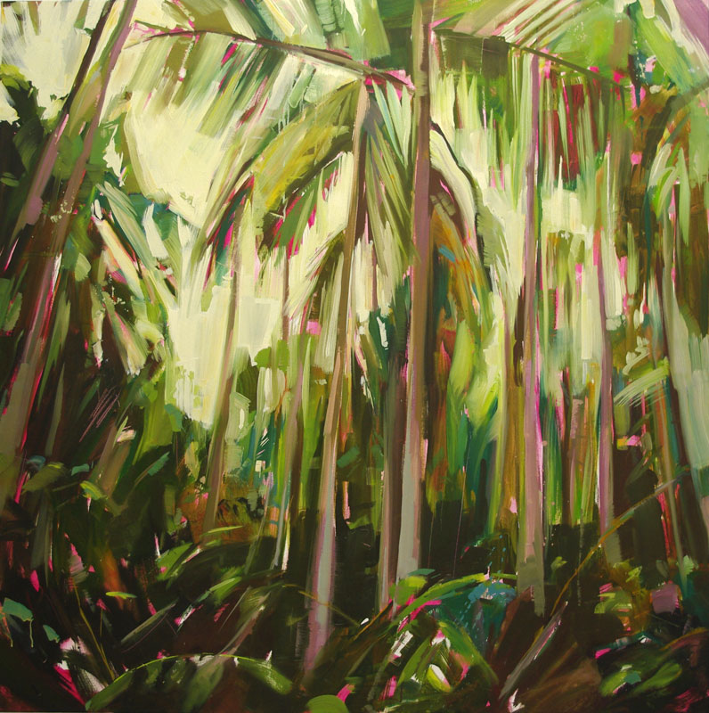Palms 1 Oil on canvas 55.1 x 55.1 in. (140 x 140 cm) KHA0001