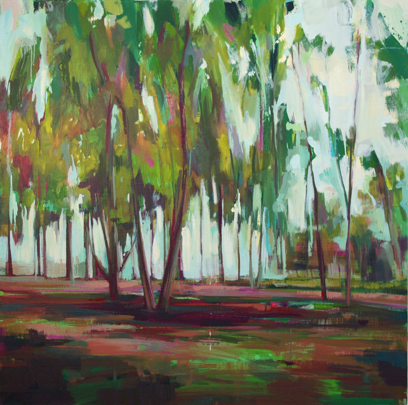 To The Trees Oil on canvas 39.3 x 39.3 in. (100 x 100 cm) KHA0002  •