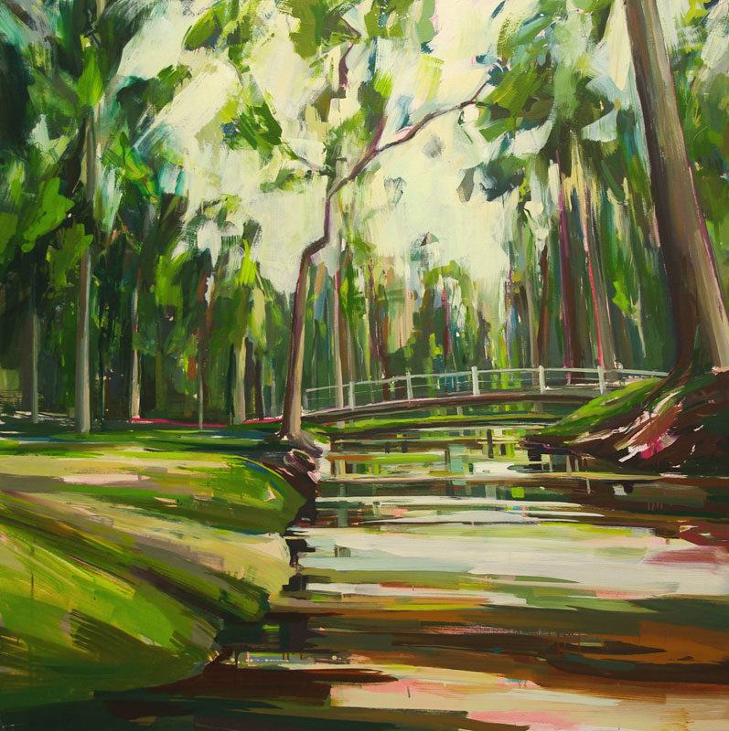 Shallow Waters Oil on canvas 59 x 59 in. (150 x 150 cm) KHA000 3  ENQUIRE ABOUT THIS WORK