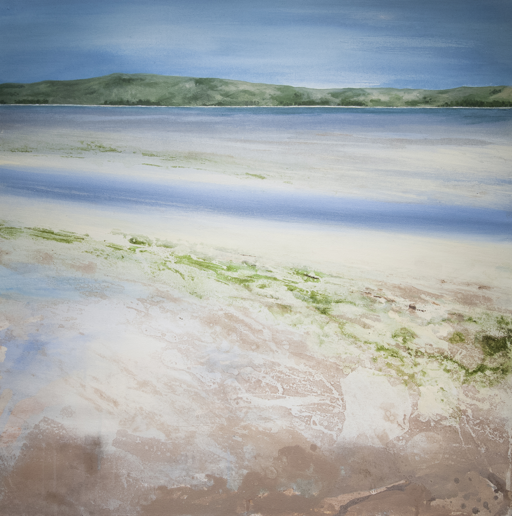 Isle of Harris Oil and acrylic on canvas 29.9 x 29.9 in. (76 x 76 cm GCM0004  ENQUIRE ABOUT THIS WORK