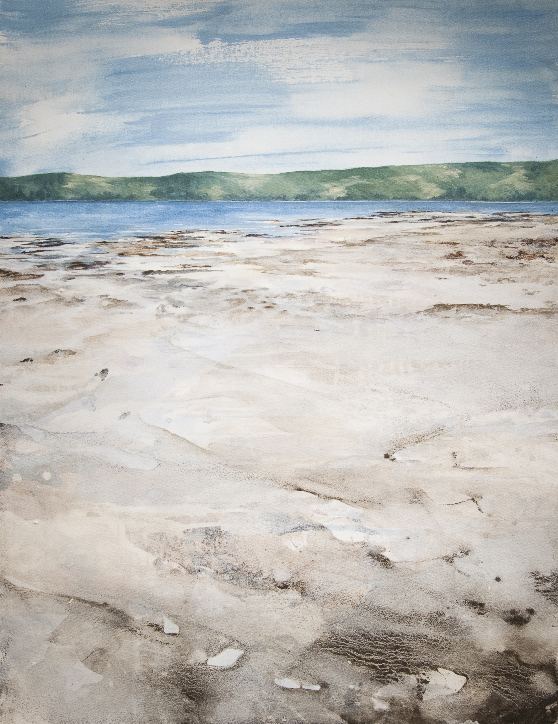 West Coast of Scottish Islands Oil and acrylic on canvas 29.9 x 29.9 in. (27.5 x 35.4 cm) GCM0005   ENQUIRE ABOUT THIS WORK