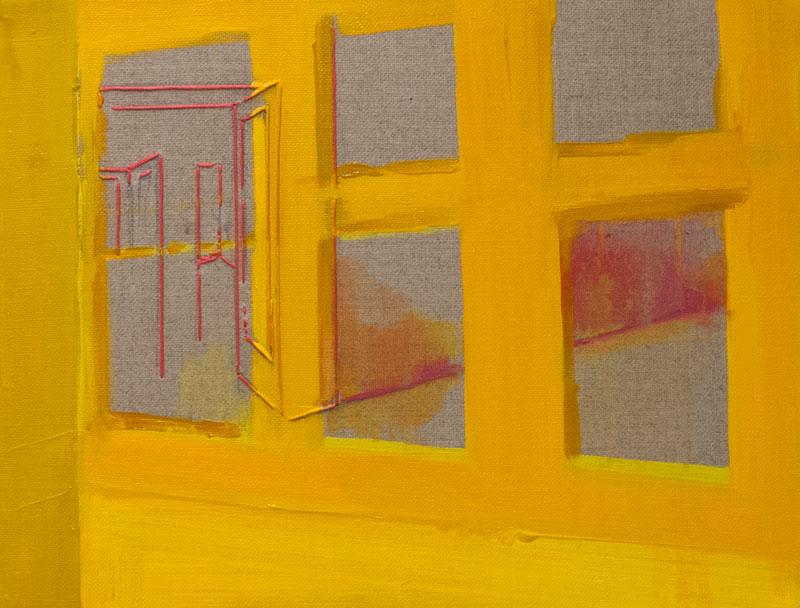 'Yellow Front' 2012 Oil on linen 13.7 x 10.7 in. (35 x 27 cm) RBY0002