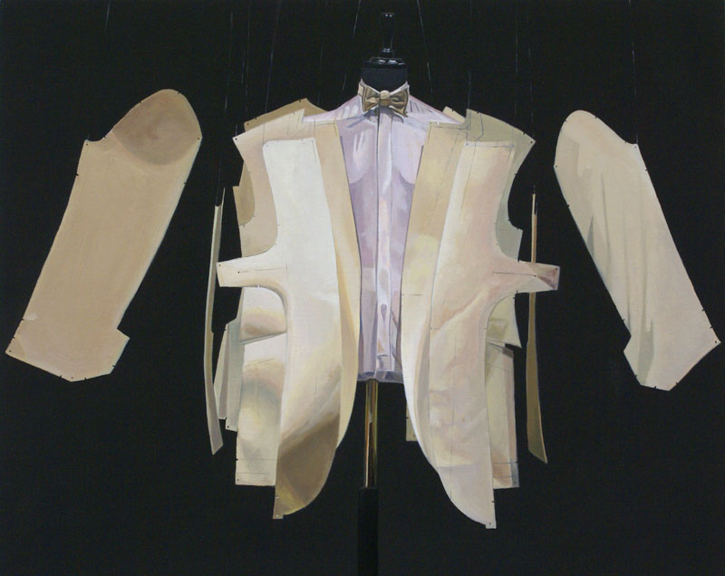 Savile Row XI 2011 Oil on board (Framed) 7.8 x 9.8 in. (20 x 25 cm) OWH0002  ENQUIRE ABOUT THIS WORK