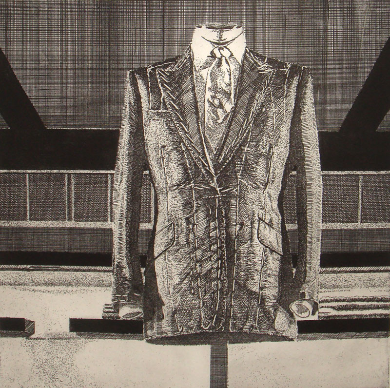 Savile Row I 2011 Etching (Framed) 7.8 x 7.8 in. (20 x 20 cm) OWH0003  ENQUIRE ABOUT THIS WORK