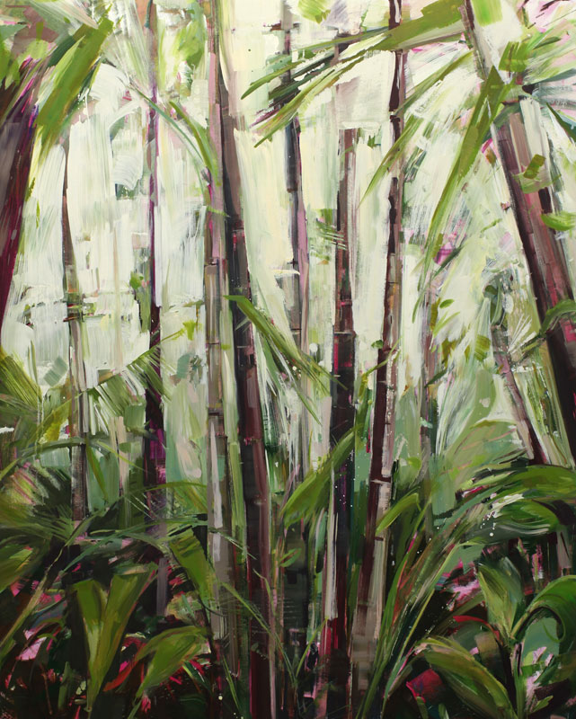 Palms 4 Oil on canvas 47.2 x 59 in. (120 x 150 cm) KHA0004  •