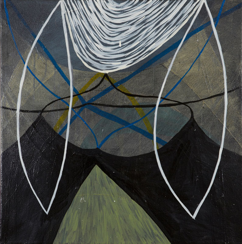 It All Lines Up Oil on Board 24 x 24 in. (61 x 61 cm) KAN0009  ENQUIRE ABOUT THIS WORK