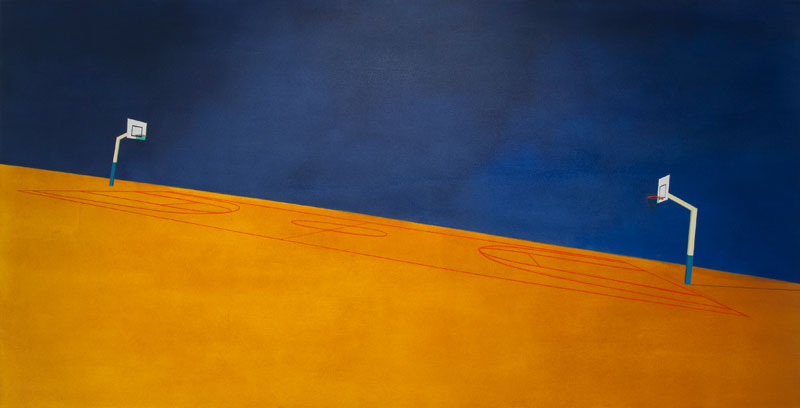 Bounce Oil on canvas 62.9 x 32.2 in. (160 x 82 cm) JPE0003  ENQUIRE ABOUT THIS WORK