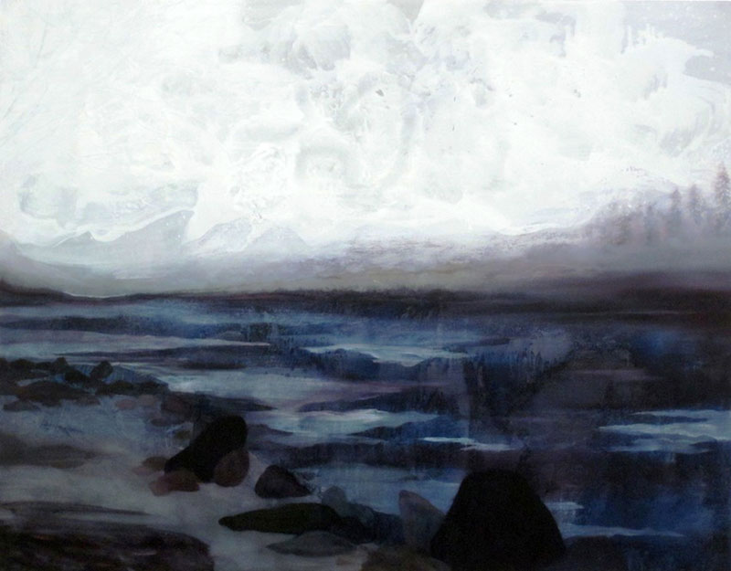 Islay Rocks Oil on board 27.5 x 35.4 in. (70 x 90 cm) FDM0009  ENQUIRE ABOUT THIS WORK