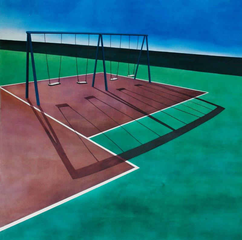 Swings Oil on canvas 74.8 x 74.8 in. (190 x 190 cm) JPE0002