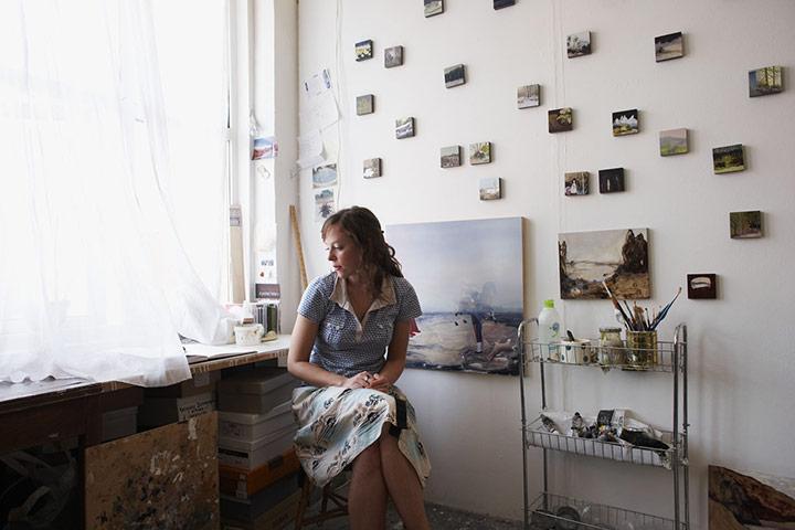 Freya Douglas-Morris at her studio in London. Photo: Sam Peach and Tora Davidson for The Guardian