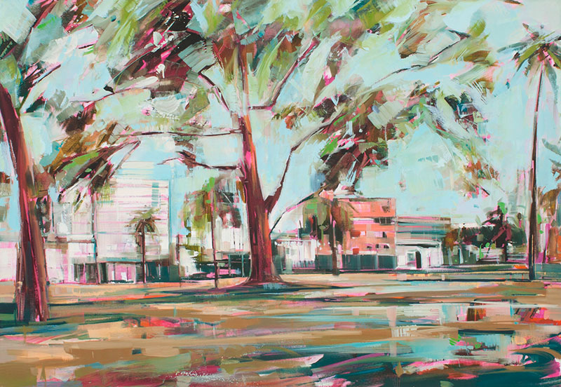 Spring Trees, 2013 Oil on canvas 55.1 x 43.3 in. (140 x 110 cm) KHA0013  ENQUIRE ABOUT THIS WORK
