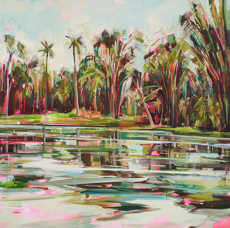 Botanical 1 Oil on canvas 55.1 x 55.1 in. (140 x 140 cm) KHA0009  ENQUIRE ABOUT   THIS WORK