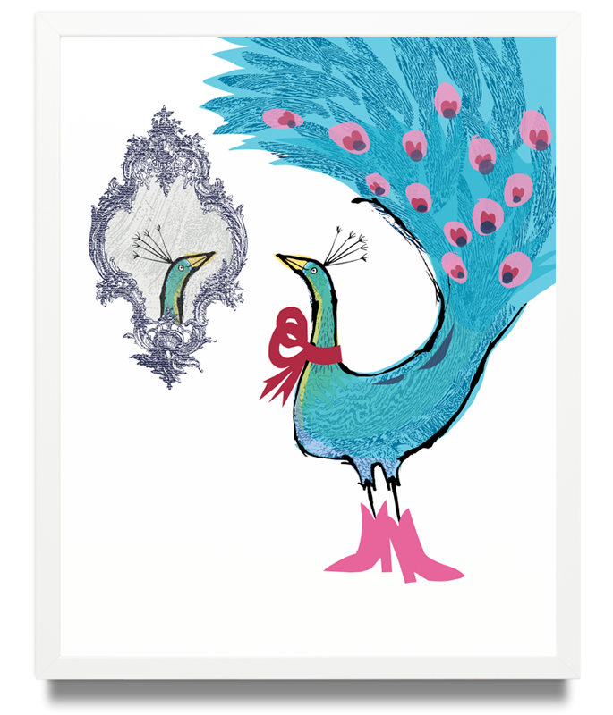 Peacock Limited Edition of 50 Pigment ink on archival paper (Framed) 15.7 x 19.6 in. (40 x 50 cm) JPO0126 £115.00   ENQUIRE ABOUT THIS WORK