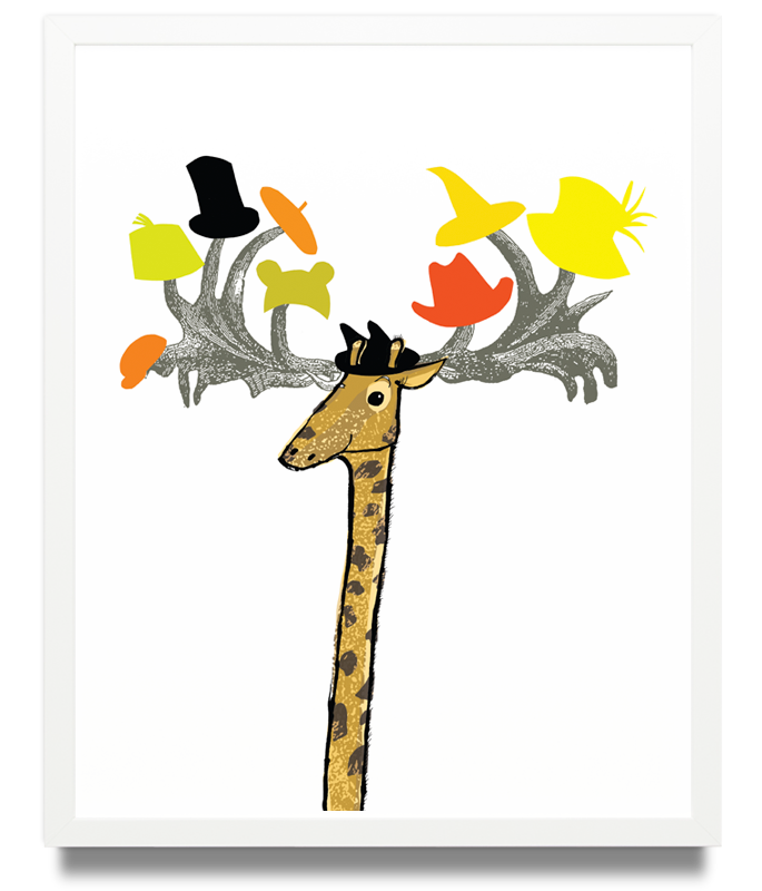 Giraffe Limited Edition of 50 Pigment ink on archival paper (Framed) 15.7 x 19.6 in. (40 x 50 cm) JPO0156 £115.00  ENQUIRE ABOUT THIS WORK