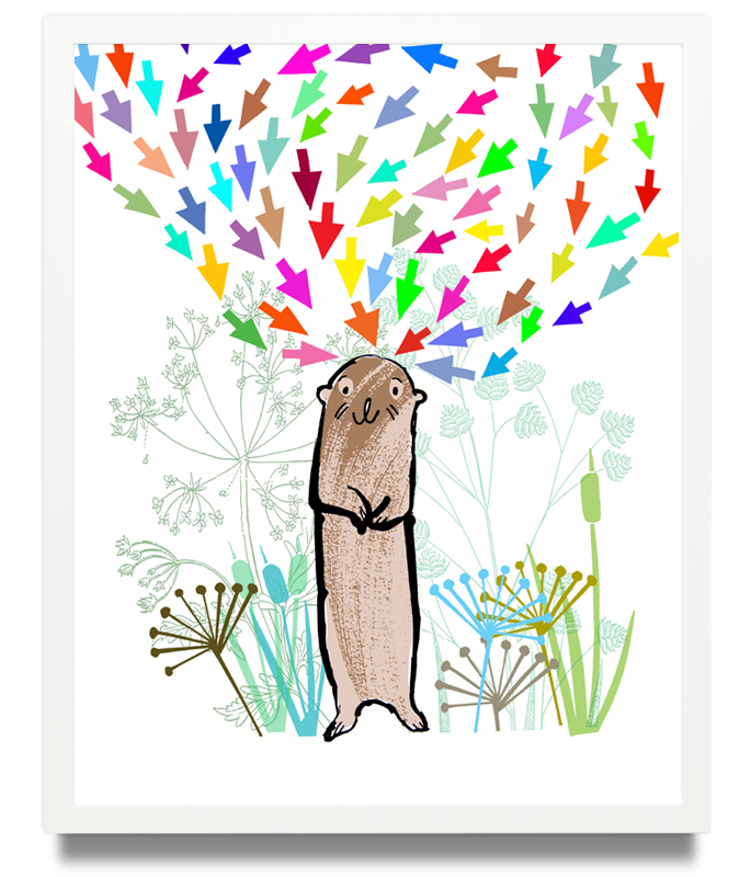 Otter Limited Edition of 50 Pigment ink on archival paper (Framed) 15.7 x 19.6 in. (40 x 50 cm) JPO0153 £115.00  ENQUIRE ABOUT THIS WORK