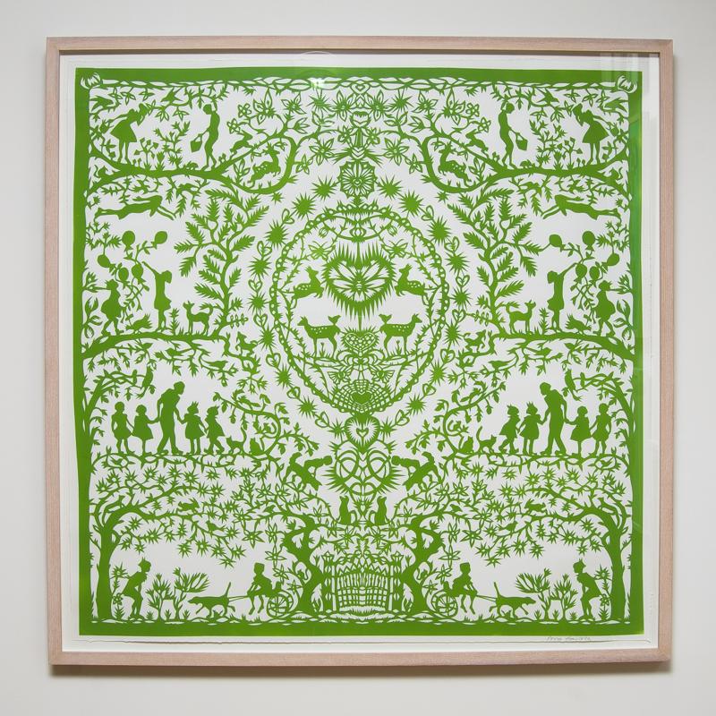 Spring Paper Cut (Framed) 40.5 x 40.5 in. (103 x 103 cm) AHO0006