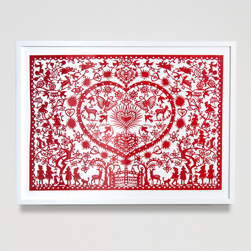 Avery - Wisdom of The Elves Paper Cut (Framed) 32.6 x 24.8 in. (83 x 63 cm) AHO0026  ENQUIRE ABOUT THIS WORK