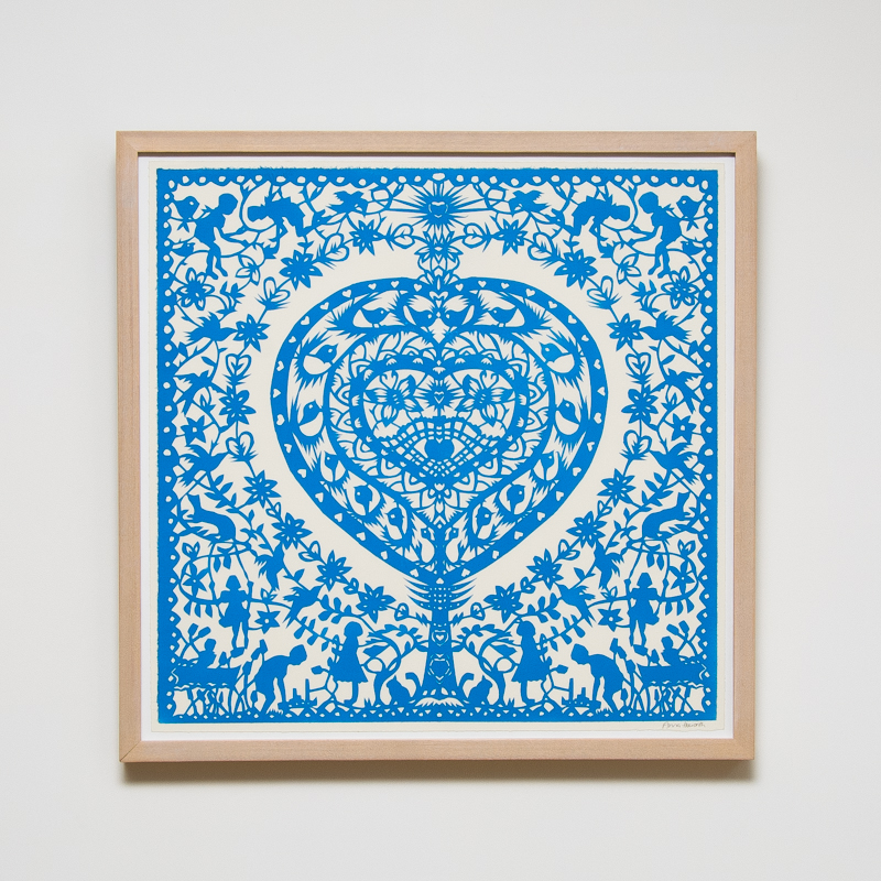 Infinite Dreams Paper Cut (Framed) 23.8 x 23.4 in. (60.5 x 59.5 cm) AHO0032  ENQUIRE ABOUT THIS WORK