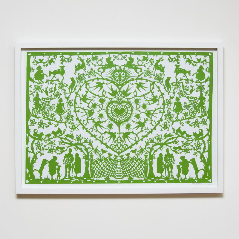 Evergreen Paper Cut (Framed) (53 x 73 cm) AHO0046  ENQUIRE ABOUT THIS WORK