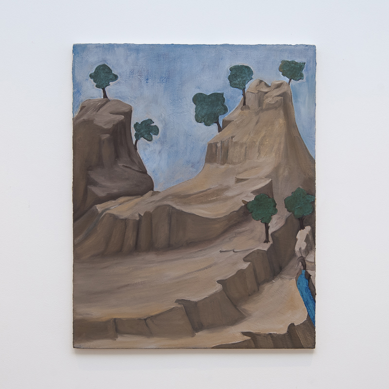 Landscape with a Spring (after Giotto) 2010 Oil and pigment on gesso panel  60 x 48 cm   23 5/8 x 18 7/8 in   HSI0002
