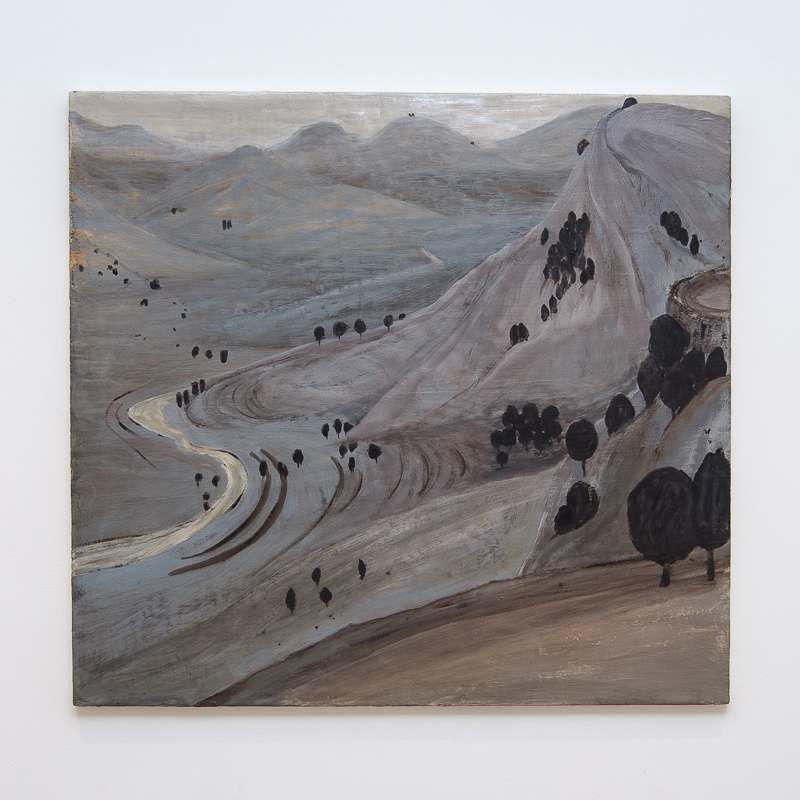 North-West Frontier Province, Afghanistan, 2007 Oil and pigment on gesso panel 60 x 65 cm 23 5/8 x 25 5/8 in HSI0004  ENQUIRE ABOUT THIS WORK