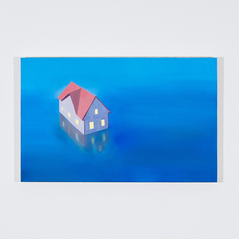 Home Boat, 2014   Oil on canvas  40 x 60 cm 15 3/4 x 23 5/8 in  JYOO0006   ENQUIRE ABOUT THIS WORK