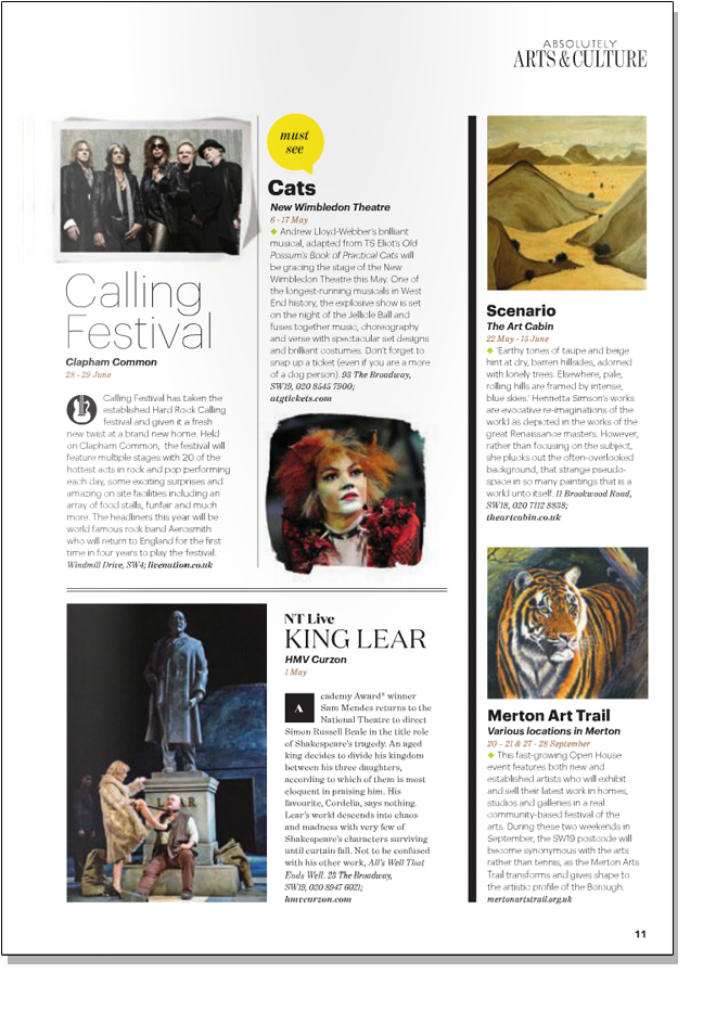 HENRIETTA SIMSON SCENARIO   Absolutely Magazine   May 2014