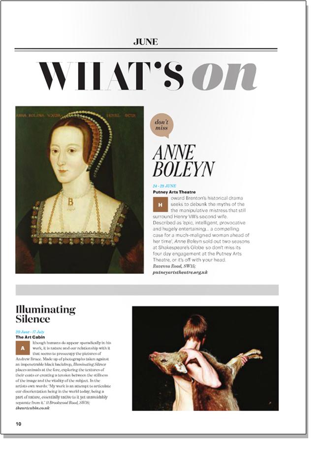 ANDREW BRUCE ILLUMINATING SILENCE   Absolutely Magazine   June 2014