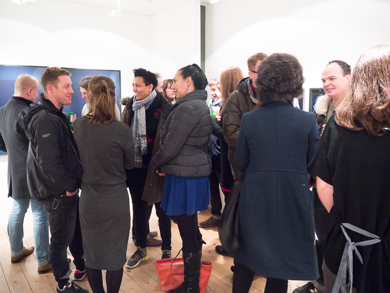 Private view of At The Still Point Of The Turning World a solo show by artist Emma Critchley