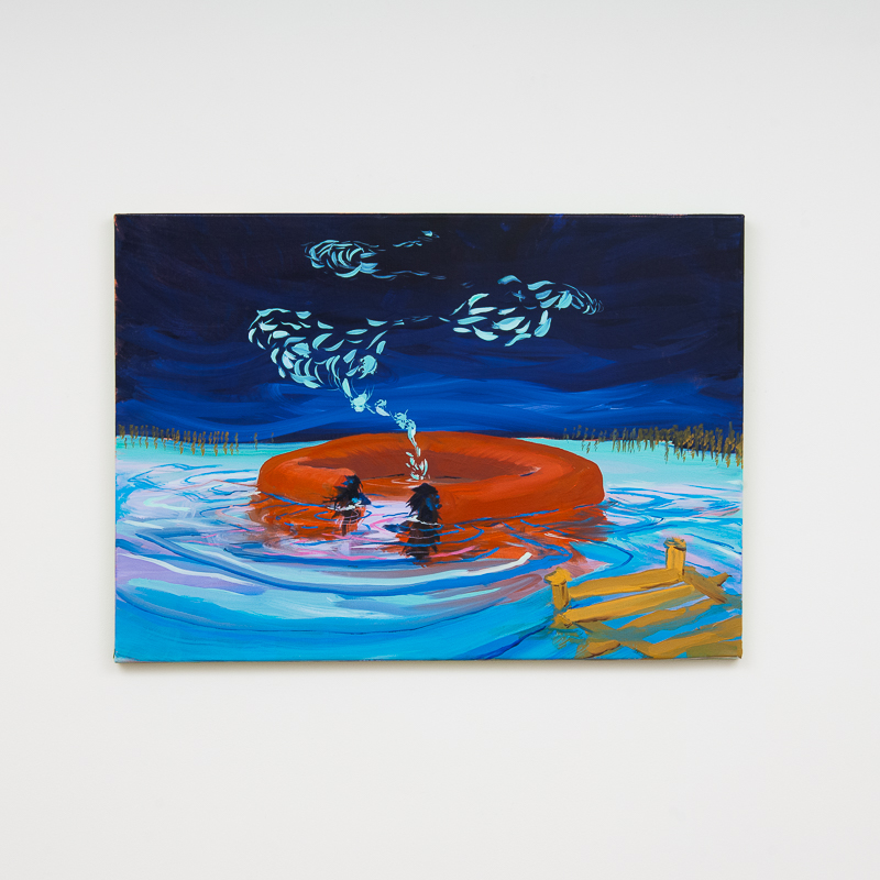 Shrimpy, 2014 Oil on linen 49.5 x 70 cm 19 1/2 x 27 1/2 in MOR0006  ENQUIRE ABOUT THIS WORK