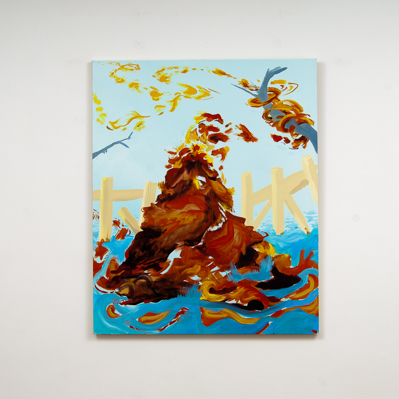 Vamoose, 2014 Oil and acrylic on canvas 104.5 x 85 cm 41 1/8 x 336 5/8 in MOR0003  ENQUIRE ABOUT THIS WORK