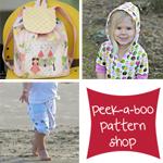 5 pdf patterns from Peek-a-Boo Pattern Shop.