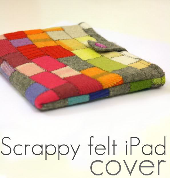 Scrappy Felt iPad Cover by My Poppet