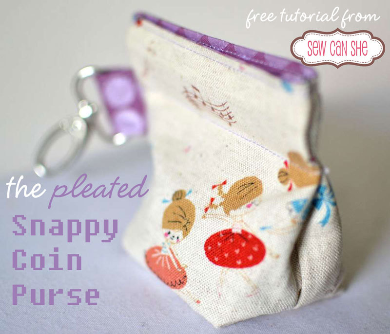 Snappy coin purse free sewing pattern!