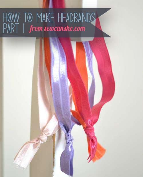 Make your own cute elastic headbands!