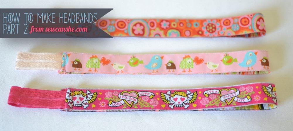 How to sew easy ribbon headbands.