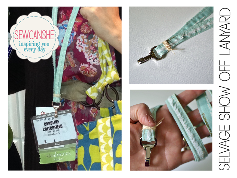 How to sew a lanyard using fabric selvages.