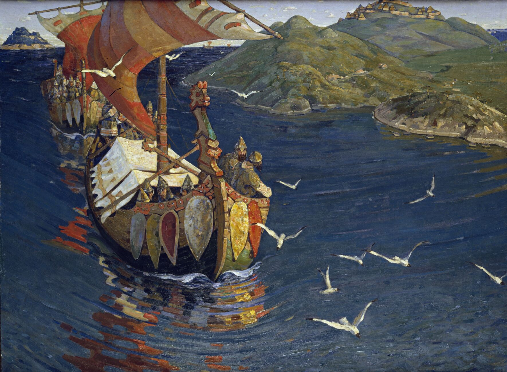 Guests from Overseas by Nicholas Roerich