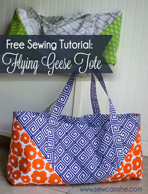 Craft Storage Bag Black Print Cotton Sew What? Sewing Project Tote Bag