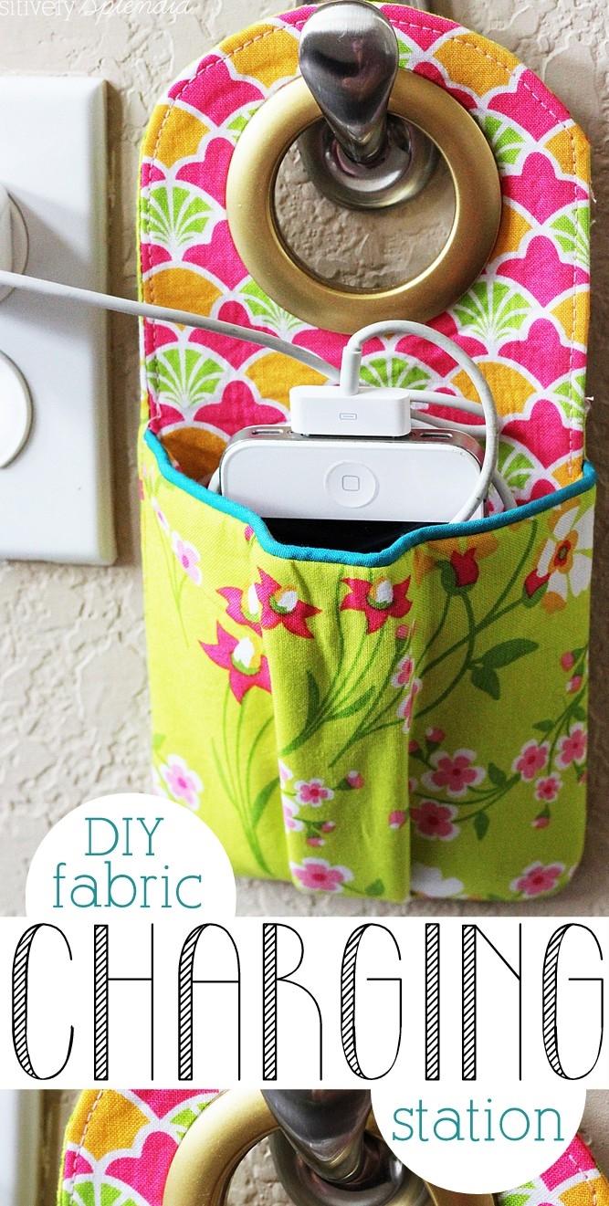 DIY Fabric Phone Charging Station