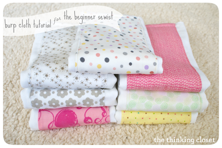DIY easy burpcloth tutorial